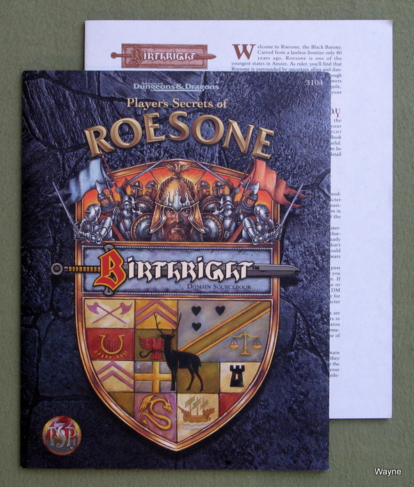Image for Player's Secrets of Roesone (Advanced Dungeons & Dragons, 2nd Edition: Birthright, Domain Sourcebook)