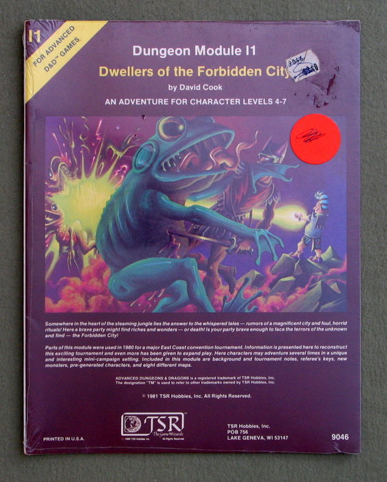 Image for Dwellers of the Forbidden City (Advanced Dungeons & Dragons module I1) - SHRINKWRAP