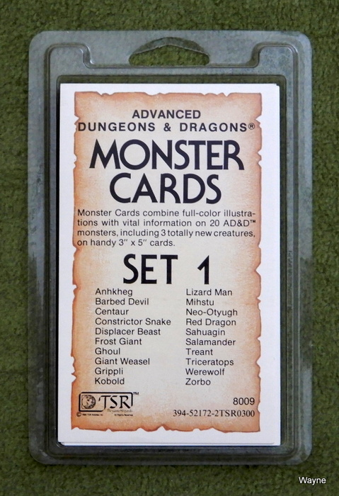 Image for Monster Cards, Set 1 (Advanced Dungeons and Dragons)