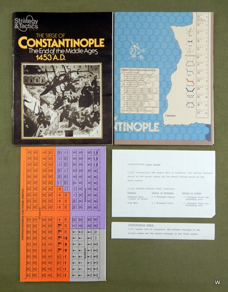 Image for Strategy & Tactics Magazine #66: with Siege of Constantinople game