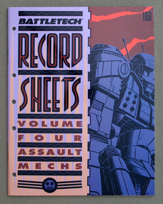 Image for Battletech Record Sheets: Volume Four (Assault Mechs)