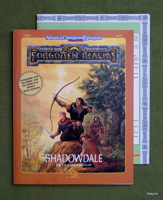 Image for Shadowdale (Advanced Dungeons and Dragons/Forgotten Realms Module FRE1)