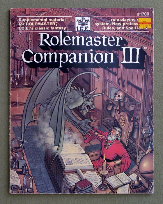 Image for Rolemaster Companion III - PLAY COPY