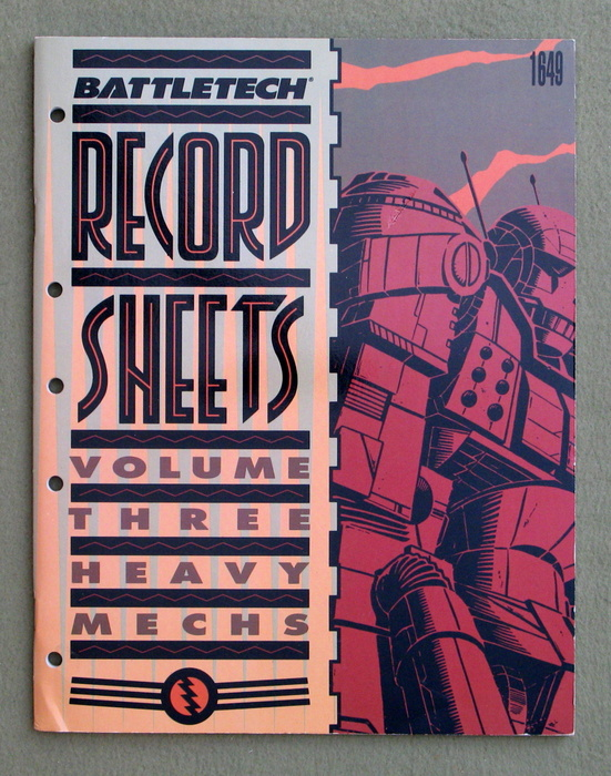Image for Battletech Record Sheets: Volume Three (Heavy Mechs)