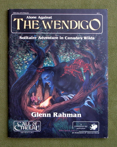 Image for Alone Against the Wendigo: Solitaire Adventure in Canada's Wilds (Call of Cthulhu RPG)