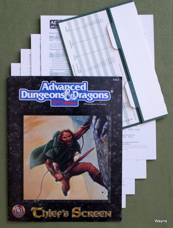 Image for Thief's Screen/Screen and Reference Material (Advanced Dungeons & Dragons, 2nd Edition)