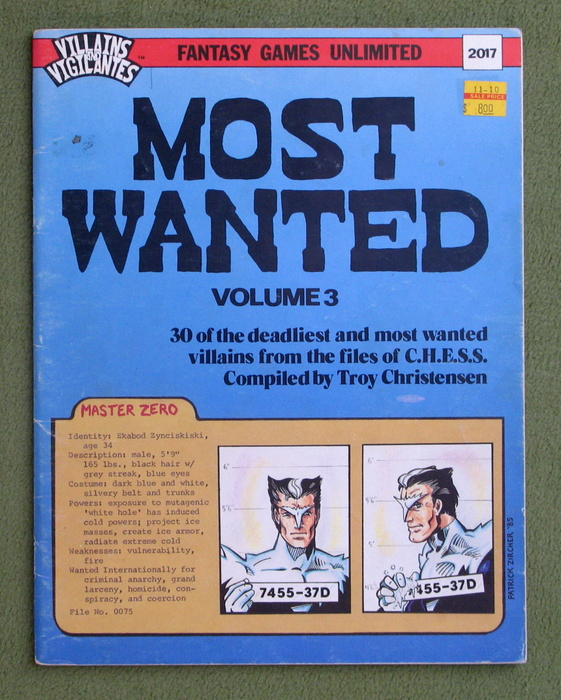 Image for Most Wanted, Volume 3 (Villains & Vigilantes) - PLAY COPY