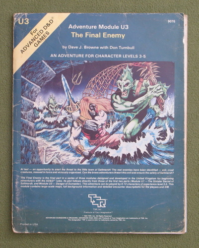 Image for The Final Enemy (AD&D Module U3) - PLAY COPY