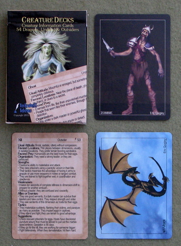 Image for Creature Information Cards (Creature Decks: 54 Dragons, Undead & Outsiders)