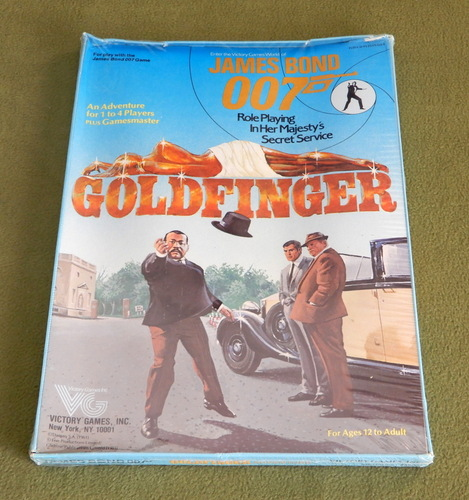 Image for Goldfinger (James Bond 007 role playing game) - LIDLESS EDITION