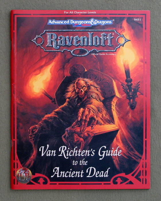 Image for Van Richten's Guide to the Ancient Dead (Advanced Dungeons & Dragons: Ravenloft Accessory)