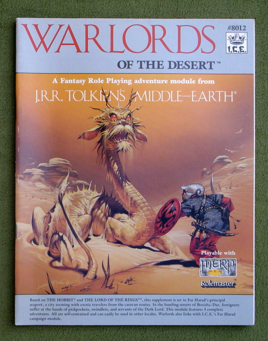 Image for Warlords of the Desert (Middle Earth Role Playing/MERP)