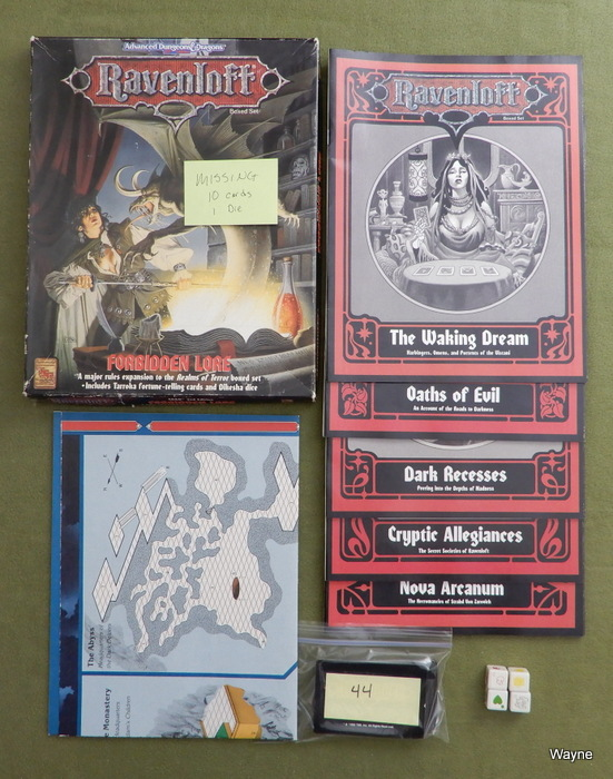 Image for Forbidden Lore (AD&D: Ravenloft) - MISSING 10 CARDS, 1 DIE