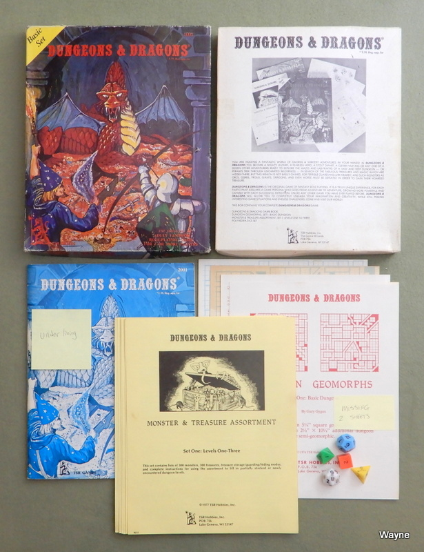 Image for Dungeons and Dragons Basic Set (Early 2nd print, Lizard Logo) - USED