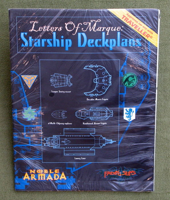 Image for Letters of Marque: Starship Deckplans (Fading Suns / Noble Armada / Traveller)
