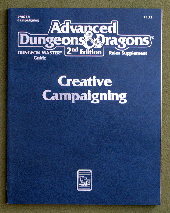 Image for Creative Campaigning (Advanced Dungeons & Dragons, 2nd Edition, Dungeon Master's Guide Rules Supplement DMGR5)