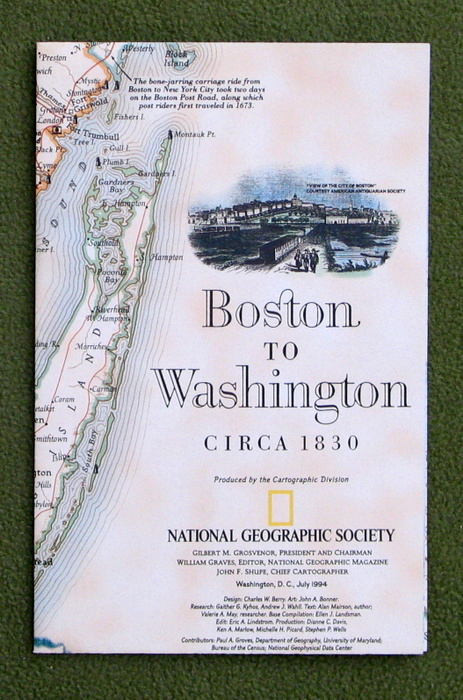 Image for Boston to Washington, ca. 1830 (National Geographic Map)
