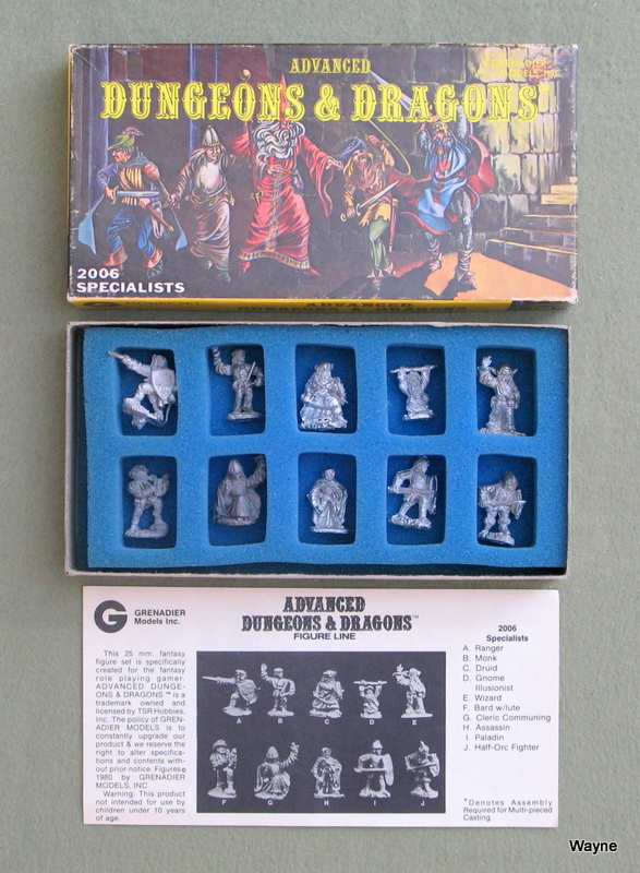 Image for Specialists: Advanced Dungeons & Dragons Metal Miniature Figure Set (25mm Scale)