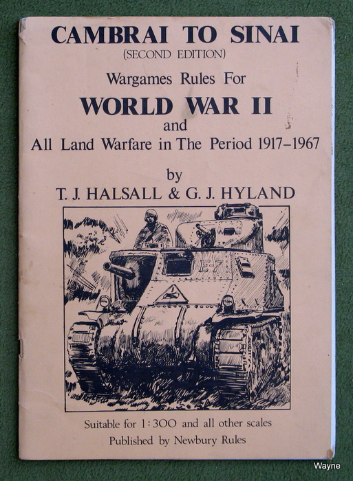 Image for Cambrai to Sinai: Wargame Rules for World War II and All Land Warfare in The Period 1917-1967