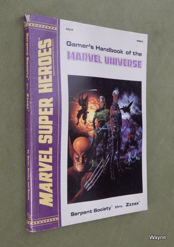 Image for Gamer's Handbook of the Marvel Universe: Serpent Society thru Zzzax (Marvel Super Heroes Accessory MU4)