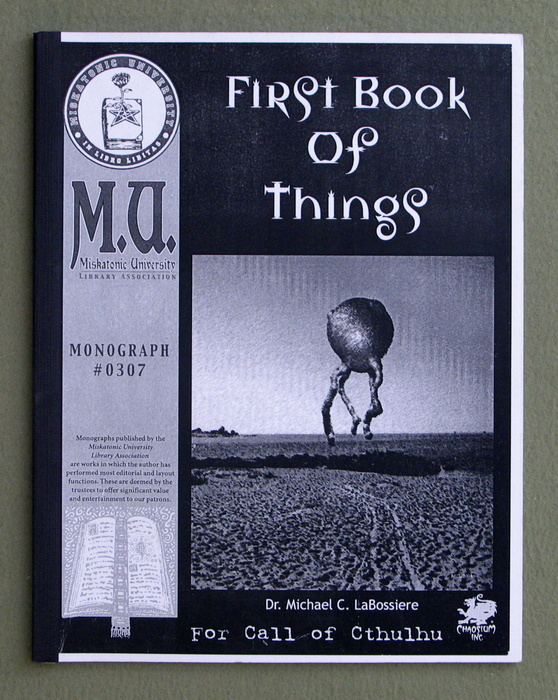 Image for First Book of Things (Call of Cthulhu Monograph)
