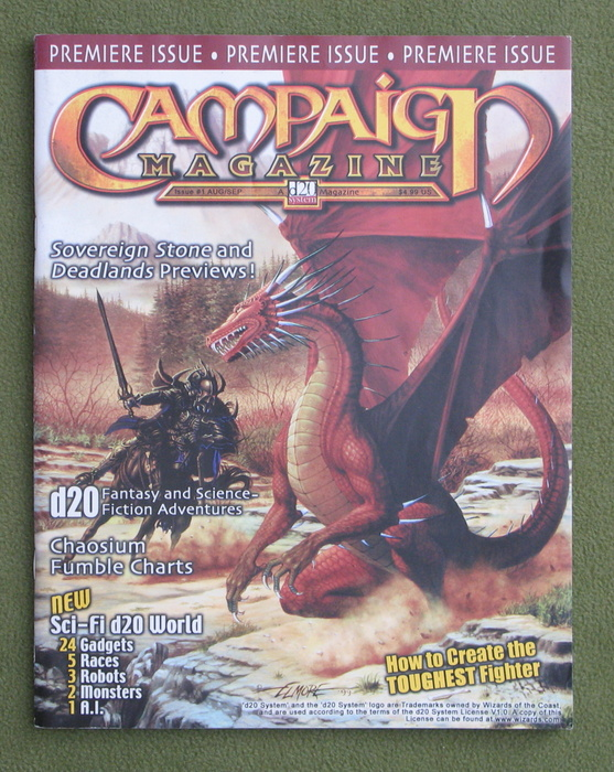 Image for Campaign Magazine, Issue 1: A d20 System Magazine (Premiere Issue)