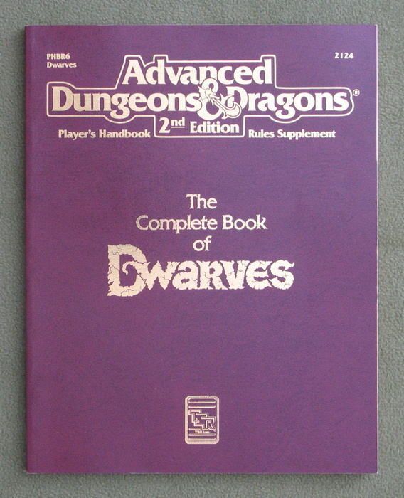 Image for Complete Book of Dwarves (Advanced Dungeons & Dragons Player's Handbook Rules Supplement - PHBR6)