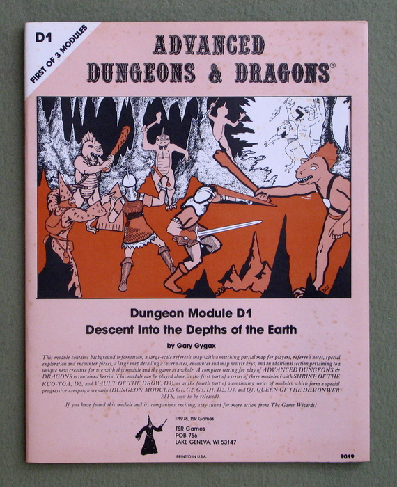Image for Descent Into the Depths of the Earth (Advanced Dungeons & Dragons Module D1)