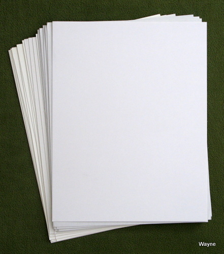 "Image for 20 White Magazine Boards (8.5"" x 11"")"