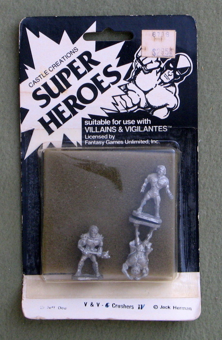 Image for Crushers: Super Heroes (Villians & Vigilantes Metal Miniatures)