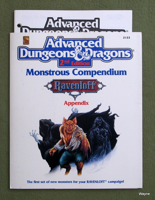 Image for Monstrous Compendium: Ravenloft : MC10 Appendix (Advanced Dungeons & Dragons) - MISSING DIVIDERS