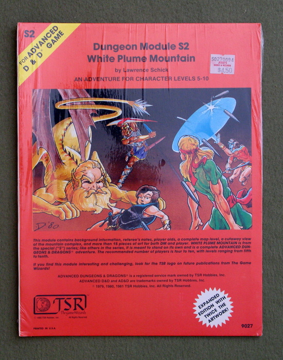 Image for White Plume Mountain (Advanced Dungeons & Dragons module S2) - SHRINKWRAP