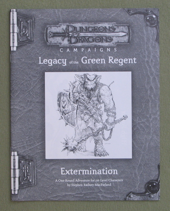 Image for Extermination: Legacy of the Green Regent (Dungeons & Dragons Campaigns)