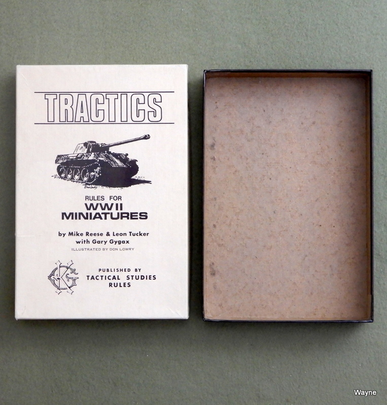 Image for Tractics: Rules for WWII Miniatures - BOX ONLY