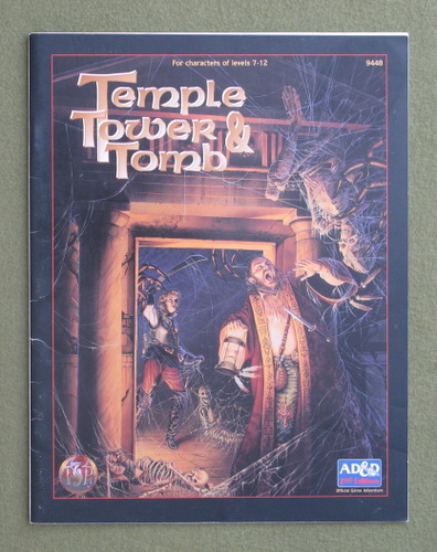 Image for Temple, Tower, and Tomb (Advanced Dungeons & Dragons, 2nd Edition)