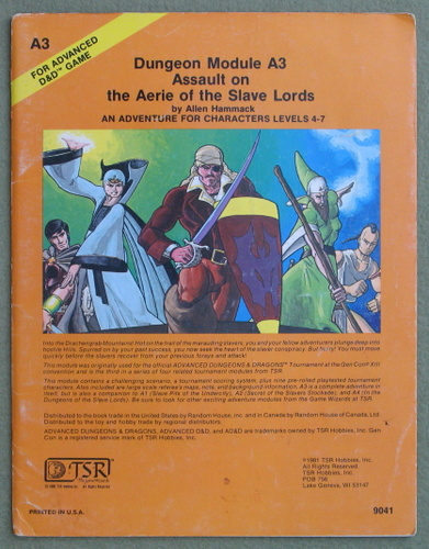 Image for Assault on the Aerie of the Slave Lords (Advanced Dungeons & Dragons module A3) - PLAY COPY