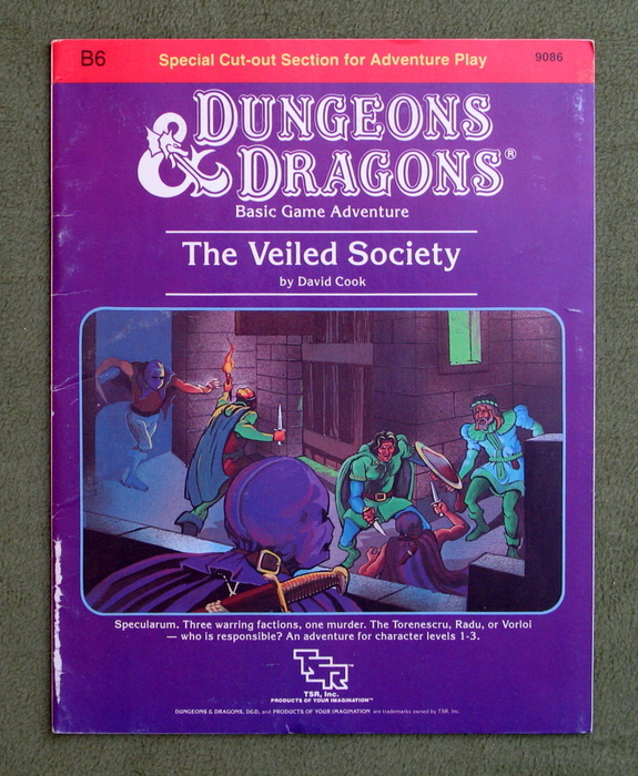 Image for The Veiled Society (Dungeons & Dragons Module B6)