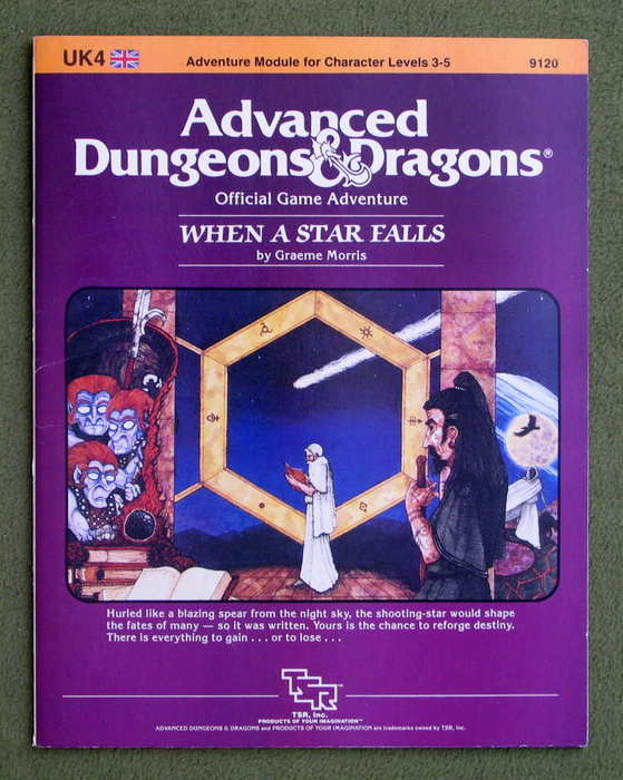 Image for When a Star Falls (Advanced Dungeons & Dragons module UK4)