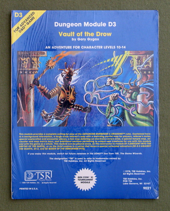 Image for Vault of the Drow (Advanced Dungeons & Dragons Module D3) - SHRINKWRAP