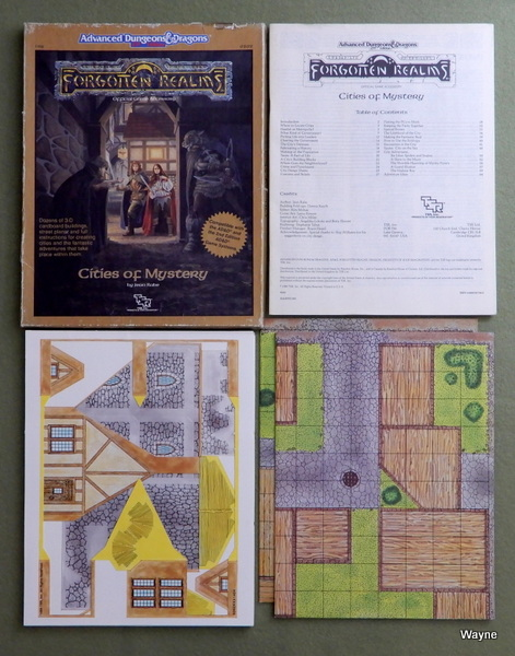 Image for Cities of Mystery (Advanced Dungeons & Dragons / Forgotten Realms Accessory FR8) - PLAY SET