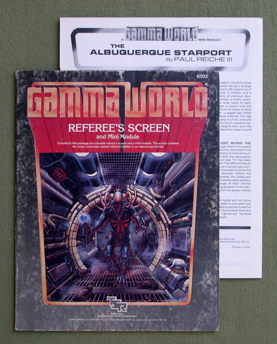 Image for Gamma World Referee's Screen and Minimodule, 2nd Edition - PLAY SET