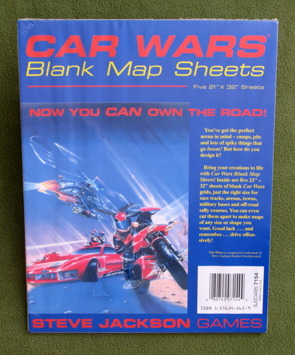 Image for Car Wars Blank Map Sheets
