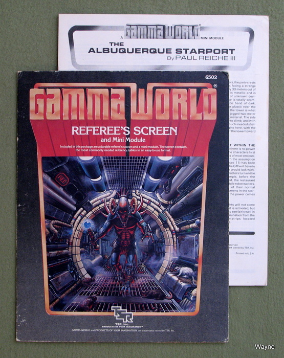 Image for Gamma World Referee's Screen and Minimodule, 2nd Edition