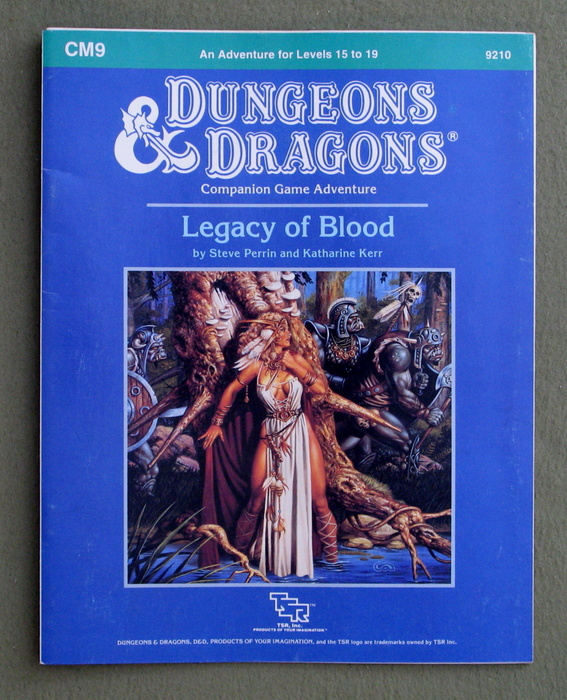 Image for Legacy of Blood (Dungeons and Dragons Module CM9)