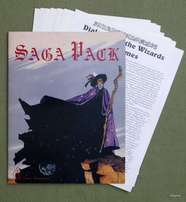 Image for Saga Pack (Ars Magica Supplement)
