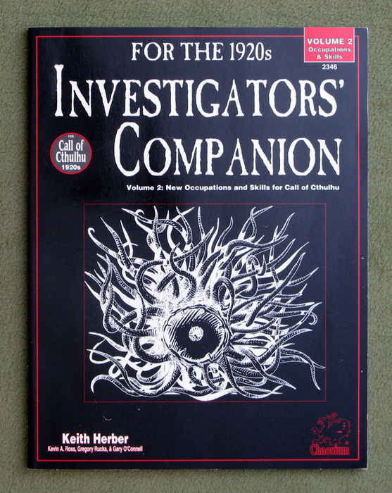 Image for Investigators' Companion, Vol. 2: Occupations & Skills for Call of Cthulhu 1920s