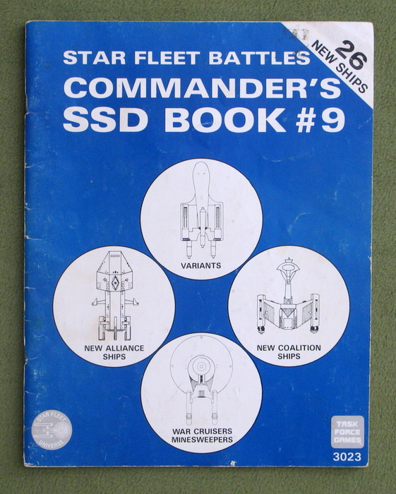 Image for Star Fleet Battles Commander's SSD Book #9 - PLAY COPY