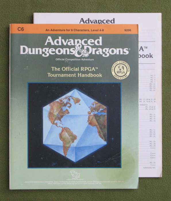Image for Official RPGA Tournament Handbook (AD&D Module C6) - PLAY COPY
