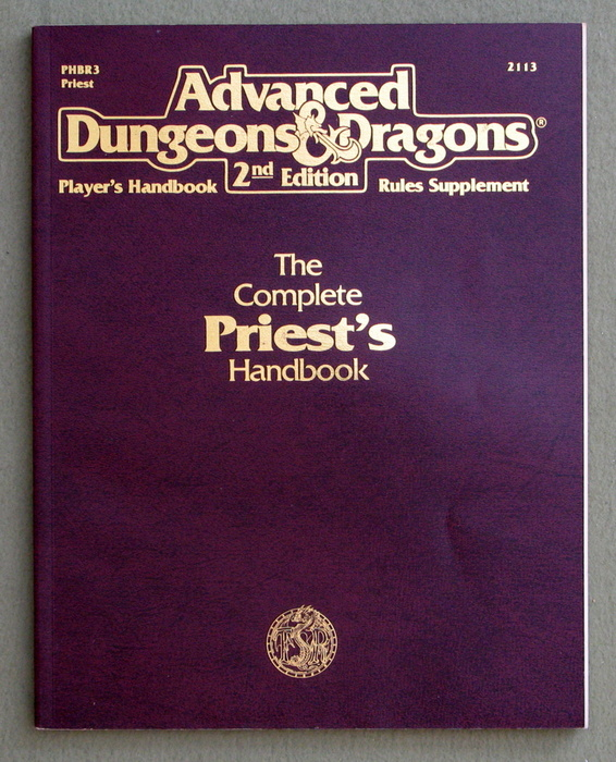 Image for Complete Priest's Handbook (Advanced Dungeons & Dragons Accessory PHBR3)