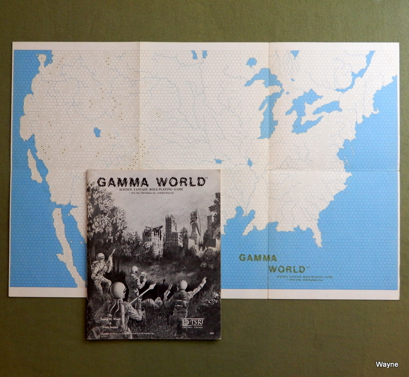 Image for Gamma World: Science Fantasy Role-Playing Game (1st Edition Rulebook) + Map